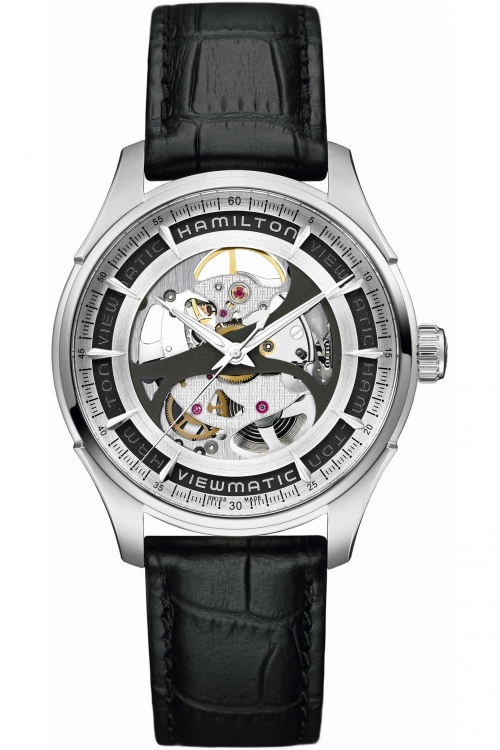 Mens Hamilton Jazzmaster Skeleton Automatic Watch H42555751