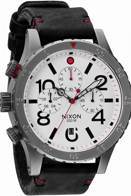 Mens Nixon The 48-20 Chrono Leather Chronograph Watch A363-486