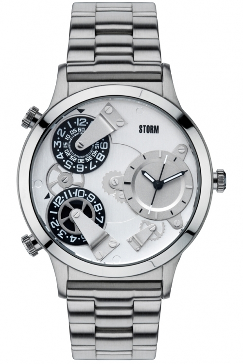 Mens Storm Trion Silver Watch TRION-SILVER