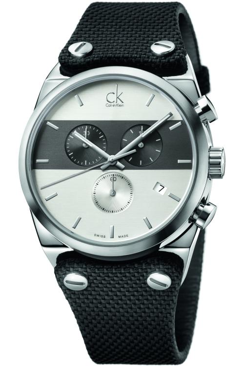 Mens Calvin Klein Eager Chronograph Cuff Watch K4B371B6