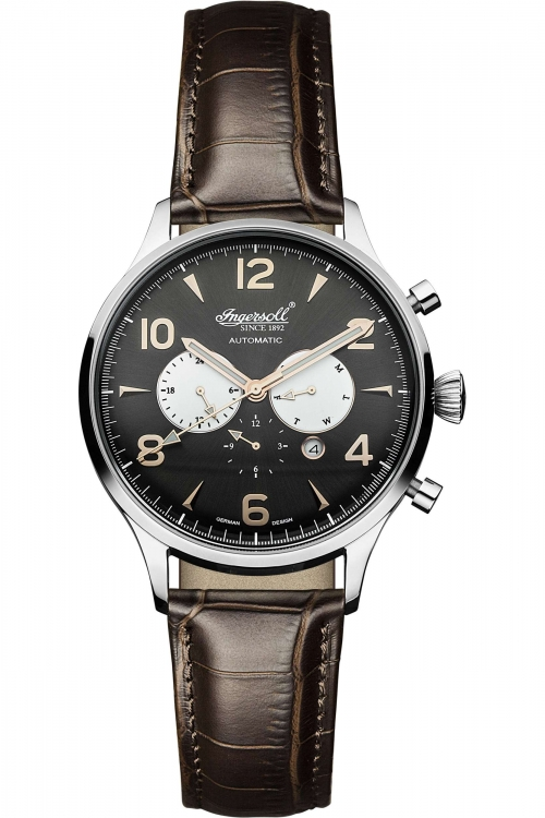 Mens Ingersoll Automatic Chronograph Watch IN1309BK