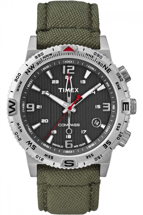 Mens Timex Indiglo Compass Watch T2P286