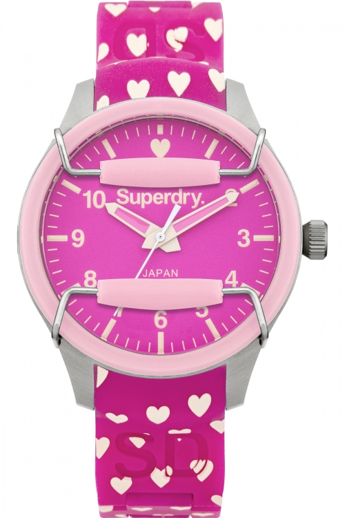 Ladies Superdry Scuba Heart Watch