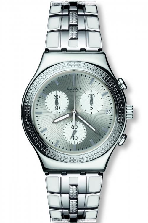 Unisex Swatch Crystal Cascade Chronograph Watch YCS580G