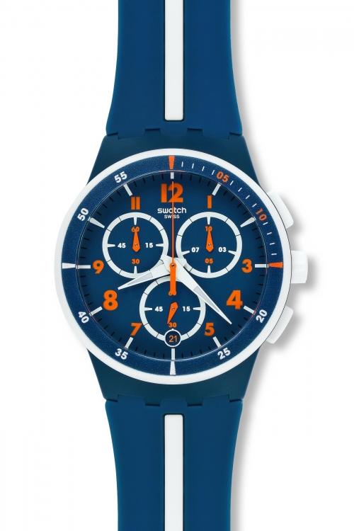 Mens Swatch Whitespeed Chronograph Watch SUSN403