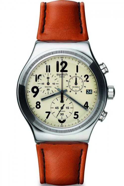 Mens Swatch Leblon Chronograph Watch YVS408