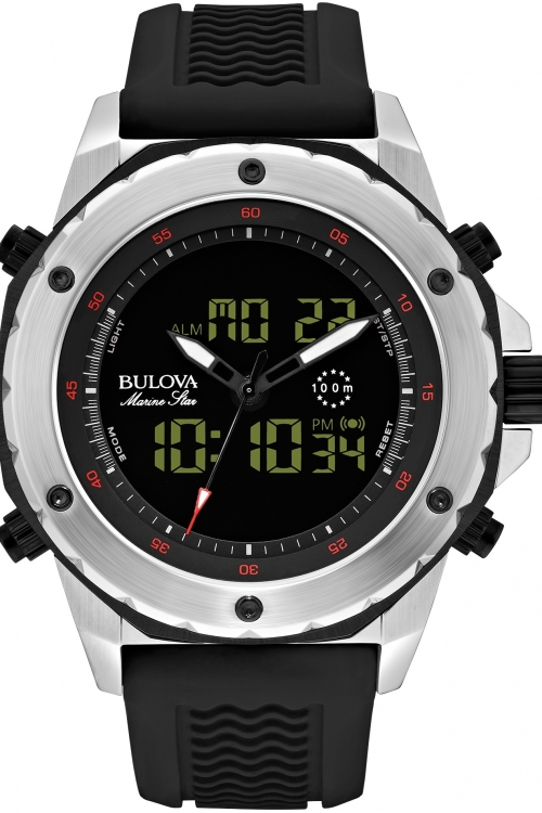 Mens Bulova Marine Star Alarm Chronograph Watch 98C119