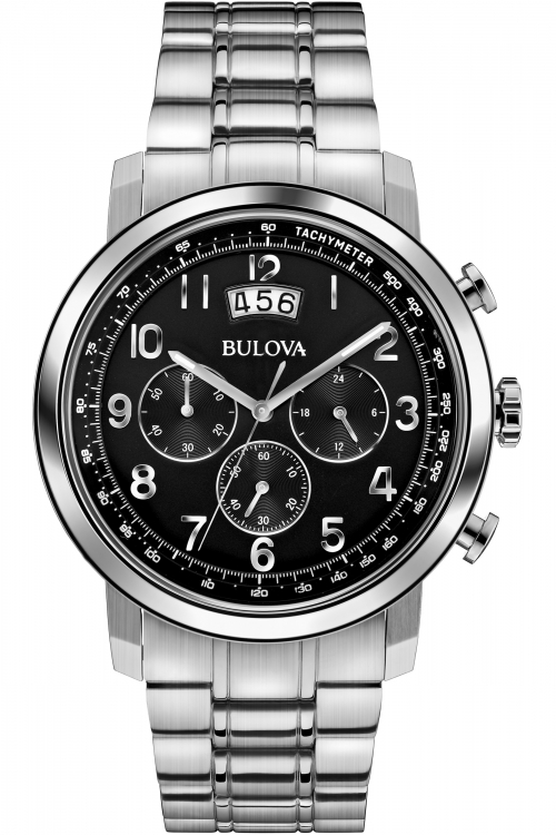 Mens Bulova Dress Chronograph Watch 96B202