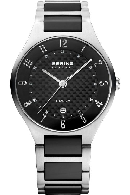 Mens Bering Titanium Ceramic Watch 11739-702