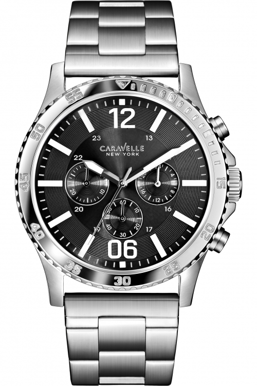 Mens Caravelle New York Logan Chronograph Watch 43A115