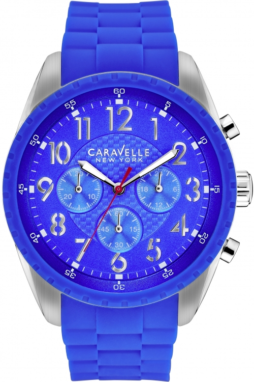Mens Caravelle New York Bruce Chronograph Watch 43A121