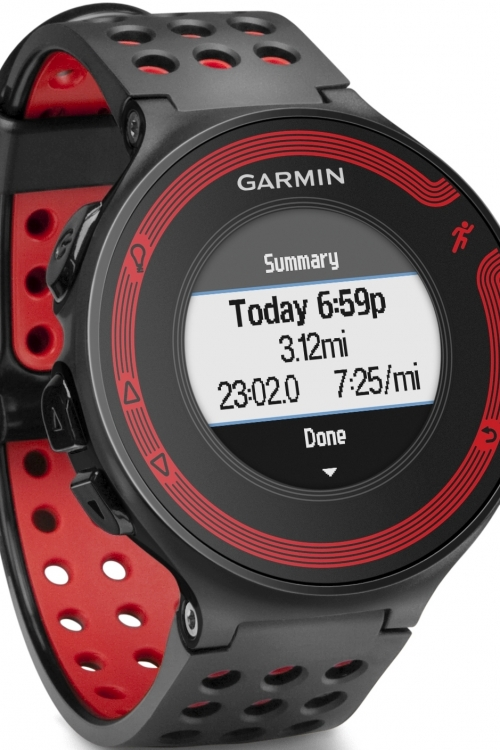 Mens Garmin Forerunner 220 GPS Alarm Chronograph Watch 010-01147-10