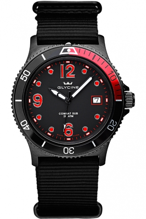 Mens Glycine Combat SUB Watch 3913.99-TB99
