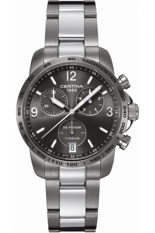 Mens Certina DS Podium Titanium Chronograph Watch C0014174408700