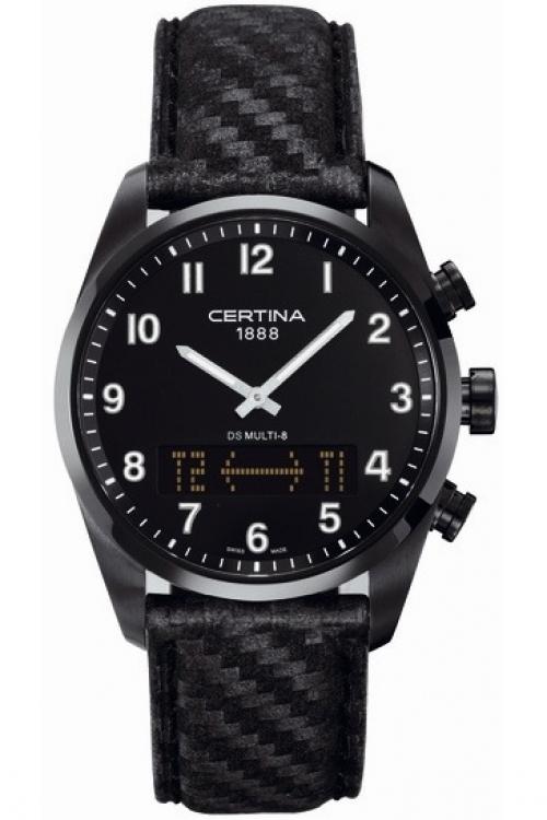 Mens Certina DS Multi 8 Alarm Chronograph Watch C0204191605200