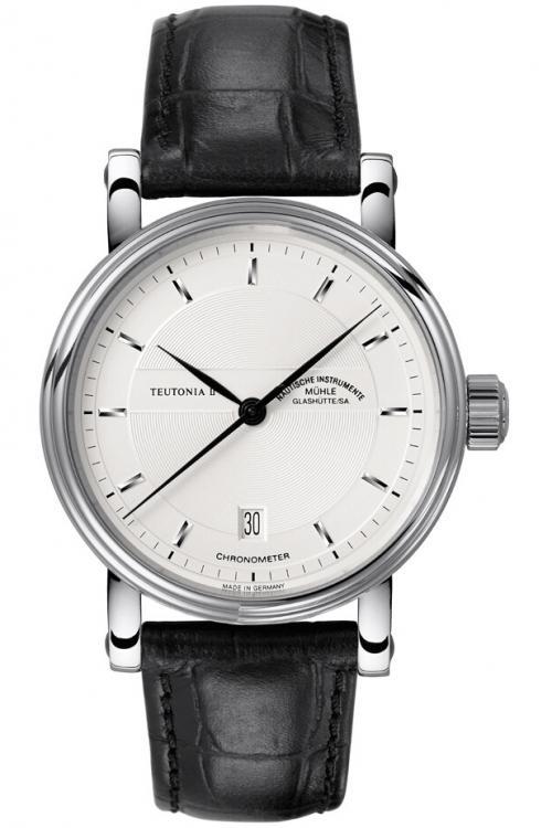Mens Muhle Glashutte Teutonia II Chronometer Automatic Watch M1-30-45-LB