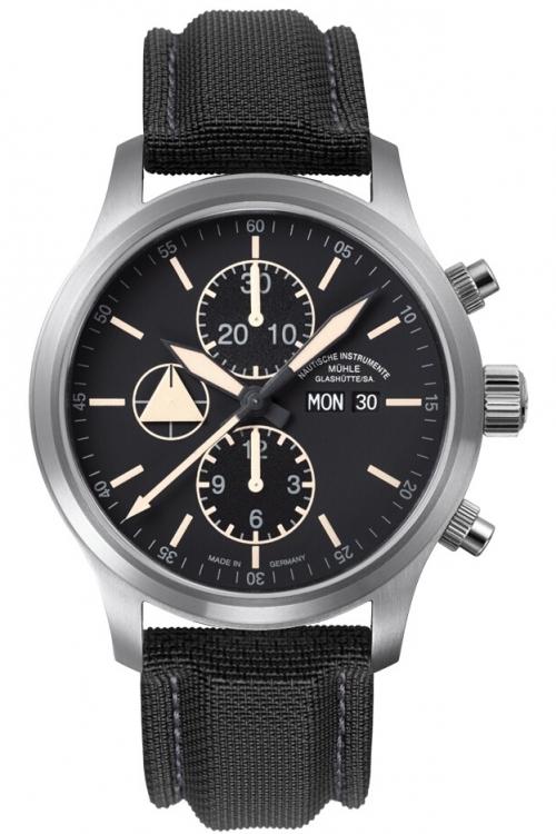 Mens Muhle Glashutte Terranaut I Trail Automatic Chronograph Watch M1-40-53-LB
