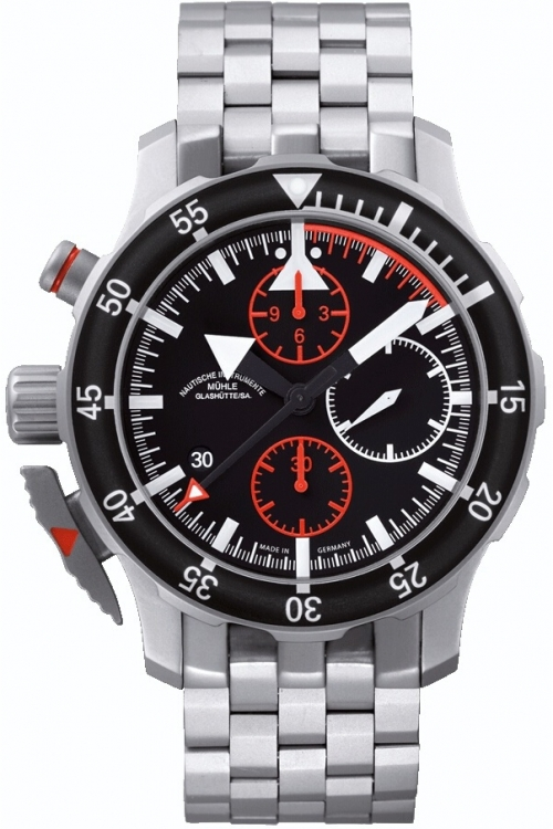 Mens Muhle Glashutte S.A.R. Flieger Automatic Chronograph Watch M1-41-33-MB
