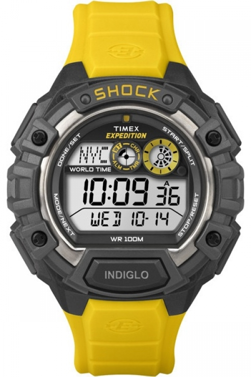 Mens Timex Expedition World Shock Alarm Chronograph Watch T49974