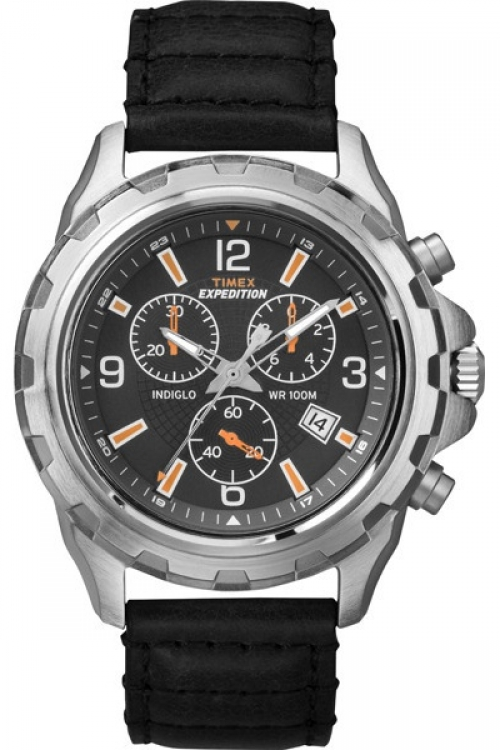 Mens Timex Indiglo Expedition Rugged Chronograph Watch T49985