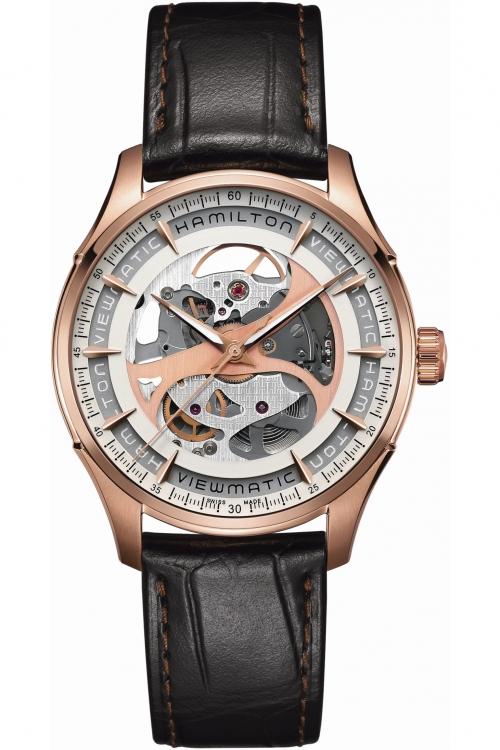 Mens Hamilton Jazzmaster Viewmatic Skeleton Mechanical Watch H42545551