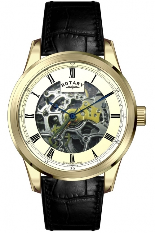 Mens Rotary Exclusive Skeleton Automatic Watch GS00187/03