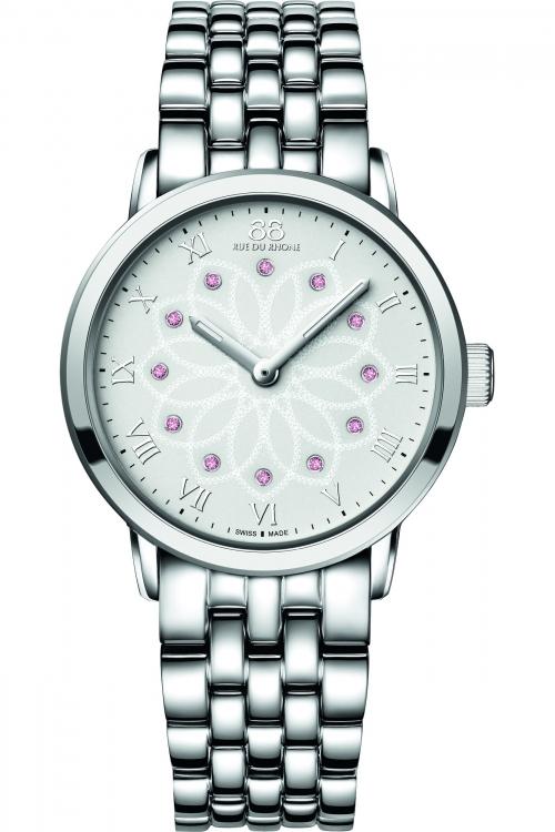 Ladies 88 Rue Du Rhone Double 8 Origin 35mm Pink Sapphire Watch