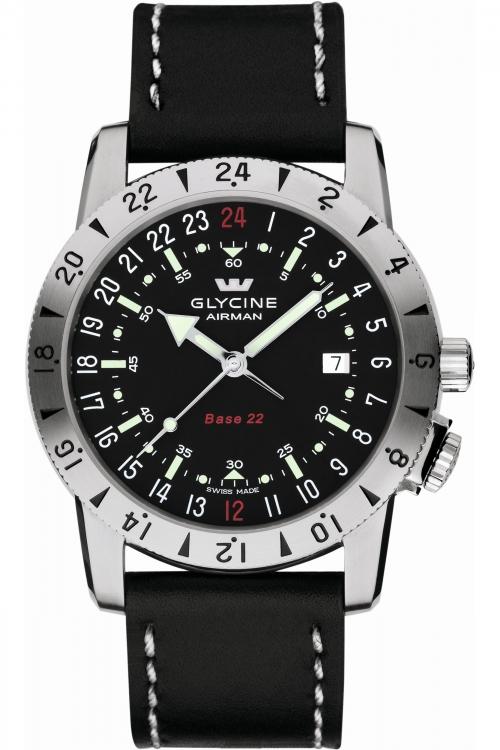 Mens Glycine Airman Base 22 Purist Automatic Watch 3887.19-66.LB9B