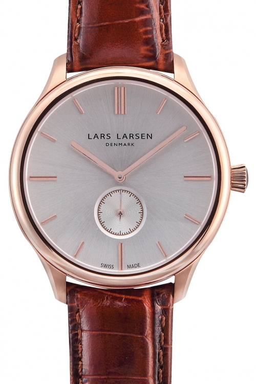 Mens Lars Larsen Simon Rose gold Watch 122RBCL