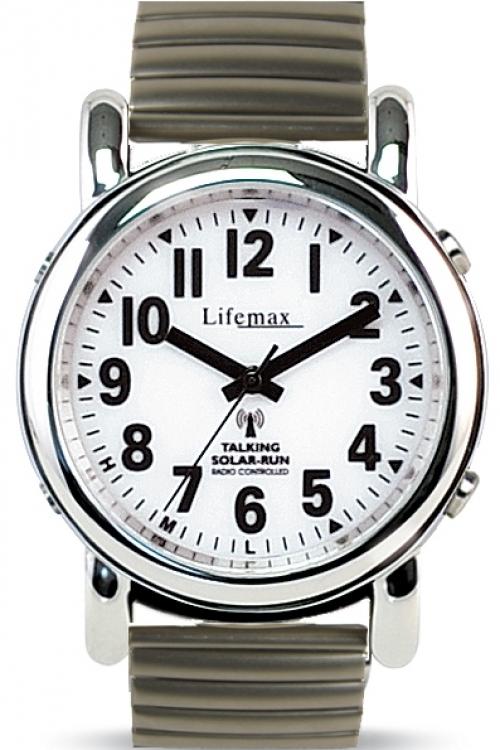 Mens Lifemax RNIB Solar Talking Atomic Solar Powered Watch 430.1E