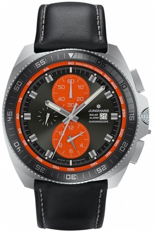 Mens Junghans 1972 Chronoscope Solar Alarm Chronograph Solar Powered Watch 014/4200.00
