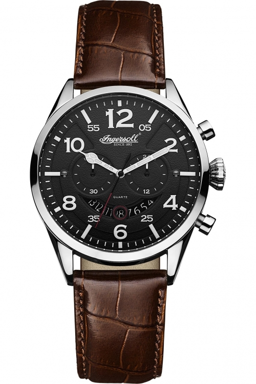 Mens Ingersoll Compton Chronograph Watch INQ029BKSL