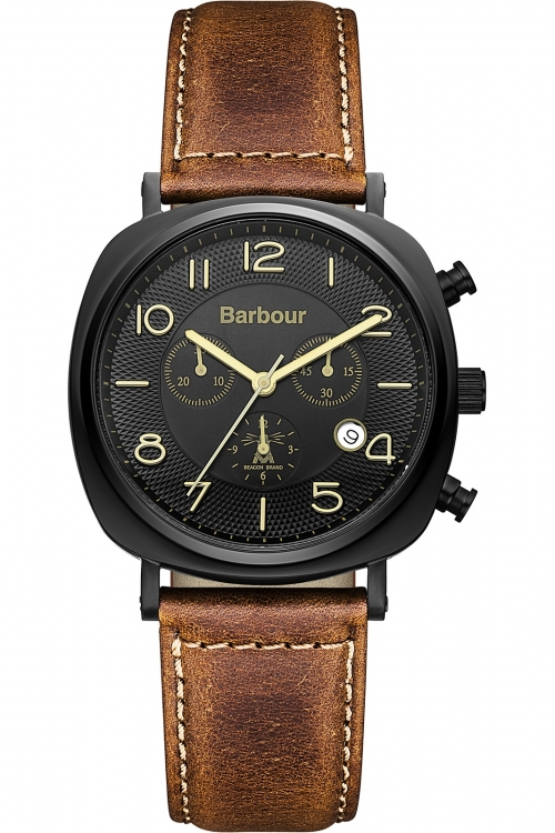 Mens Barbour Beacon Chrono Chronograph Watch BB019BKTN