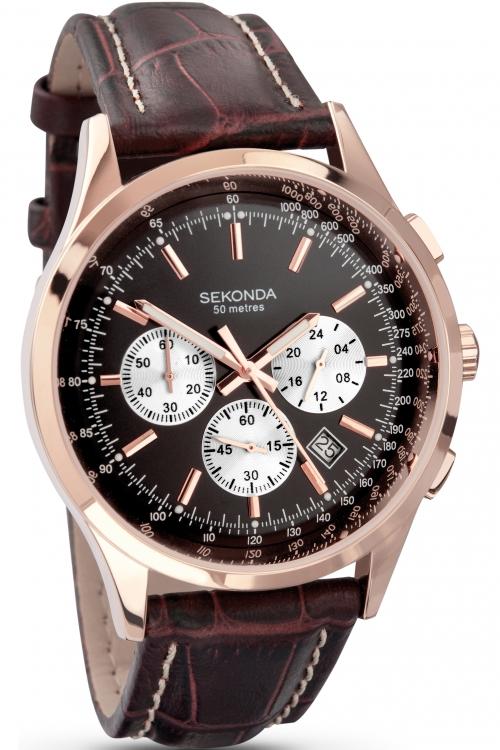 Mens Sekonda Midnight Chronograph Watch 3413