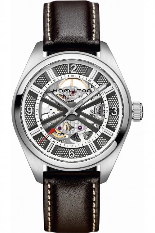 Mens Hamilton Khaki Skeleton Automatic Watch H72515585