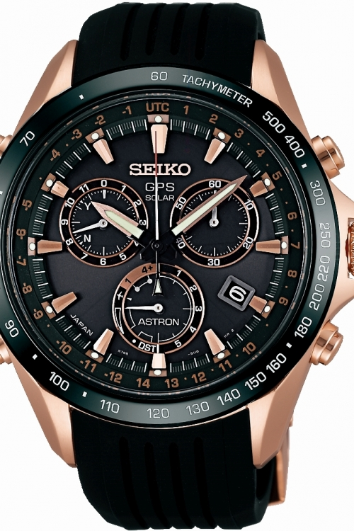 Mens Seiko Astron GPS Novak Djokovic Limited Edition Chronograph Radio Controlled Solar Powered Watch SSE022J1