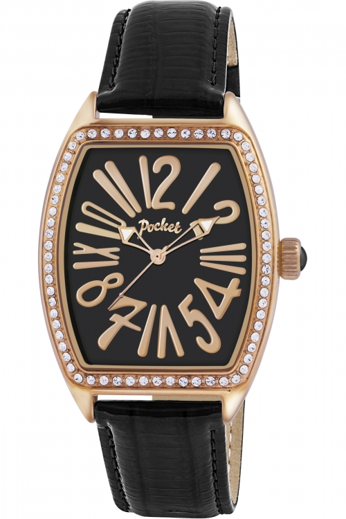 Ladies Pocket-Watch Tonneau Crystal Medio Watch