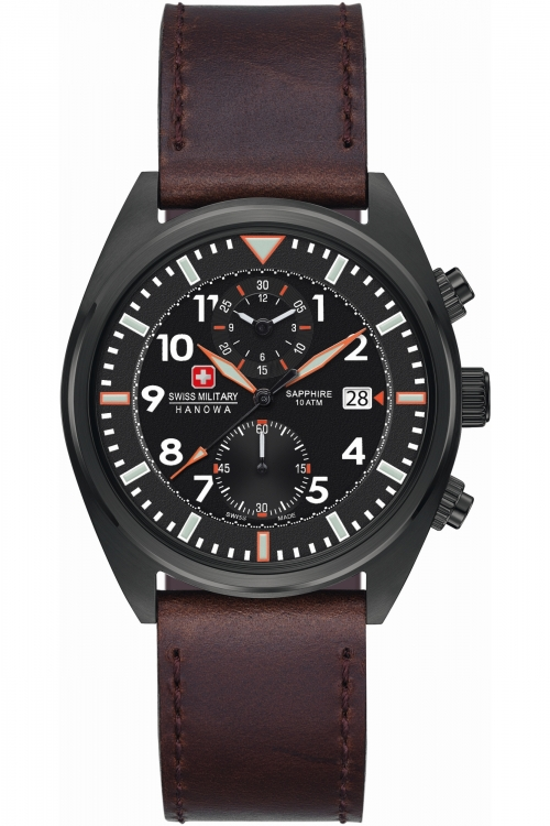 Mens Swiss Military Hanowa Airbourne Chronograph Watch 6-4227.13.007