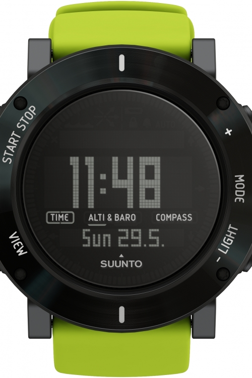 Mens Suunto Core Crush Lime Chronograph Watch SS020693000