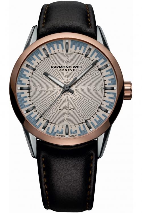 Mens Raymond Weil Freelancer Labrinth Special Edition Automatic Watch 2730-SC5-LABRI