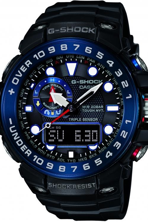 Mens Casio G-Shock Premium Gulfmaster Alarm Chronograph Radio Controlled Watch GWN-1000B-1BER