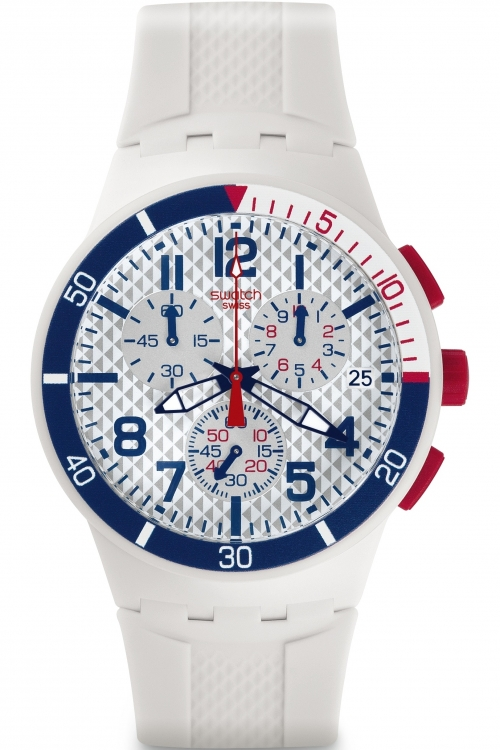 Mens Swatch Chronoplastic - Speed Up Chronograph Watch SUSM401