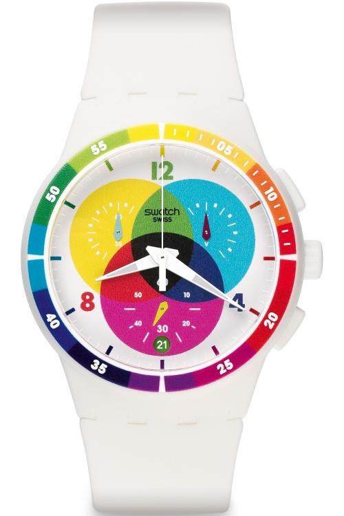 Mens Swatch Chronoplastic - Chromograph Chronograph Watch SUSW404