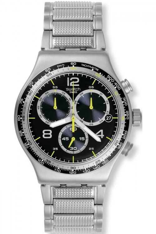 Mens Swatch Irony Chrono - Sprinkled Water Chronograph Watch YVS411G