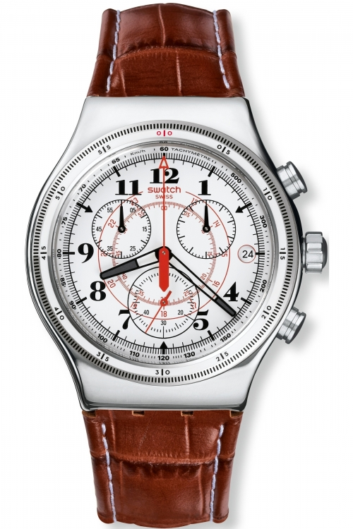 Mens Swatch Irony Chrono - Back To The Roots Chronograph Watch YVS414
