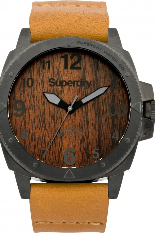 Mens Superdry Trident Wood Watch SYG161T