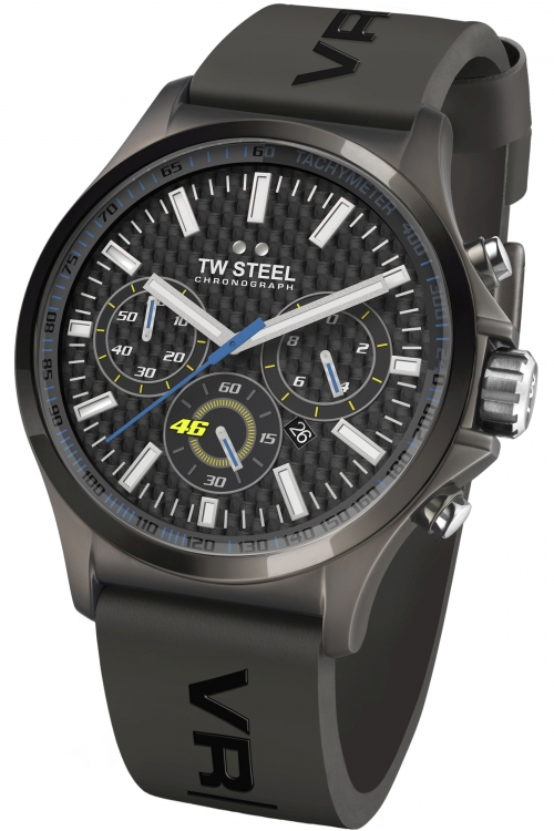 Mens TW Steel Pilot 45mm VR46 Chronograph 45mm Watch TW0935