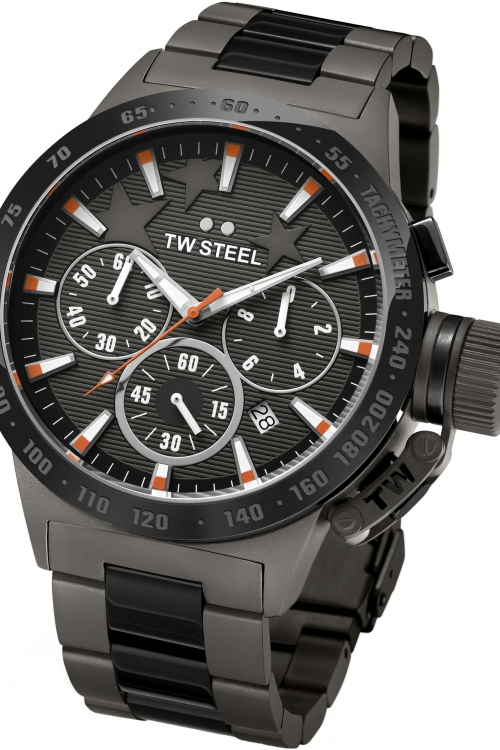Mens TW Steel Canteen Michel Edition Chronograph 45mm Watch TW0313