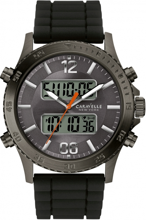 Mens Caravelle New York Logan Alarm Chronograph Watch 45B132
