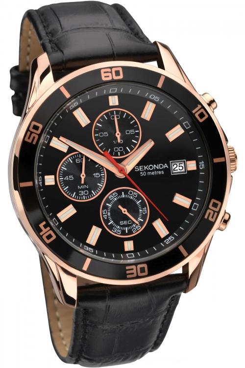Mens Sekonda Night Fall Chronograph Watch 1051